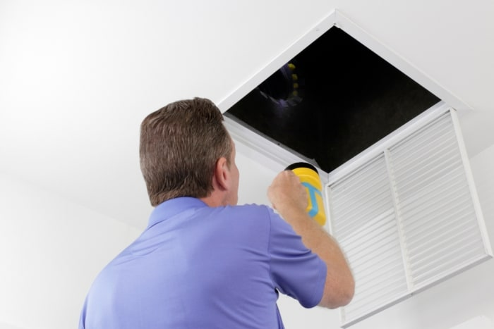 how to clean an air duct yourself