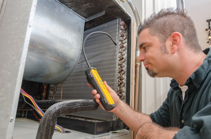 how to check for freon leak in home ac