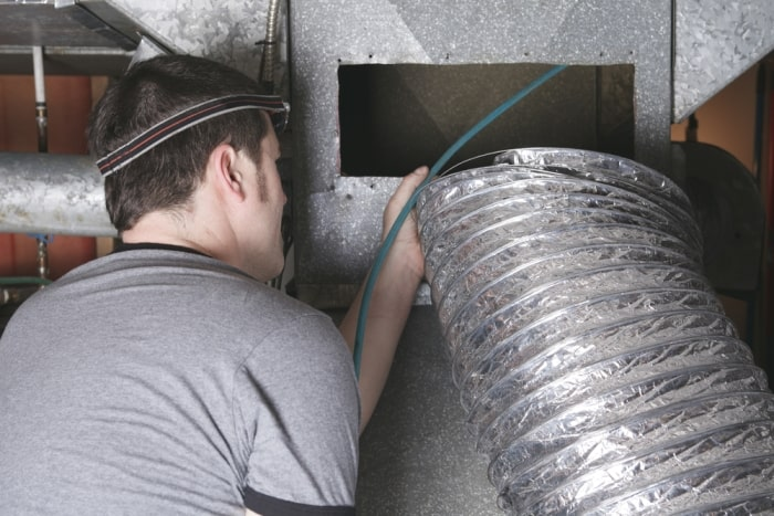 how to remove odor from air ducts