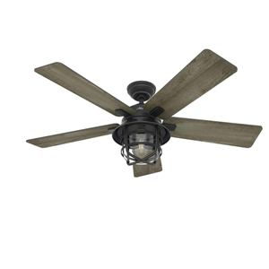 Hunter Fan 54 Weathered Zinc Outdoor Ceiling Fan