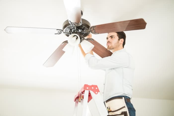 how to install a ceiling fan without attic access