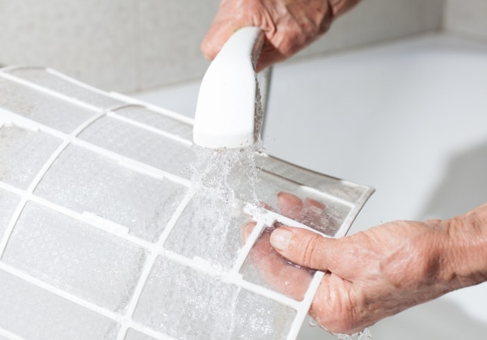 how to clean air conditioning ac filters