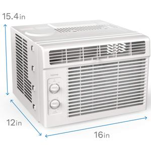 hOmeLabs 5000 BTU Window Mounted Air Conditioner - 7-Speed Window AC Unit
