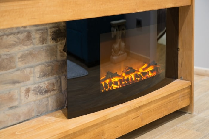 smallest electric fireplaces
