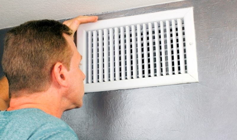signs of black mold in air vents