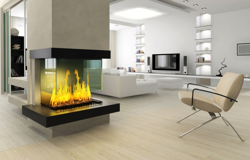 how to turn on an electric fireplace